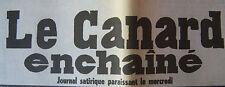 JOURNAL ANNIVERSAIRE LE CANARD ENCHAINE ACTUALITE SATIRIQUE DU 12 MARS 1975