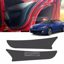 Carbon Door Decal Sticker Cover Kick Protector For HYUNDAI 2009-12 Genesis Coupe
