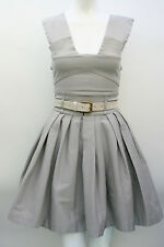PREEN Light grey Jenny Skater Dress Strapy Size XS