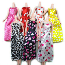 7X Gorgeous Handmade Dress for Barbies Doll Clothes Accessories Mix Color