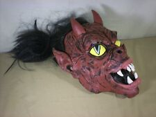 Halloween Horror Red Chinese Demon Devil One Size Adult  Mask