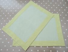 Crate & Barrel Linen Placemats - Lime Green - Set Of 2 - Free P & P