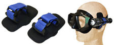 Torch Adapter for Dive mask. 2 mounting straps to attach dive light to goggles
