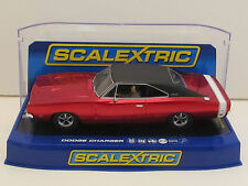 C3652 SCALEXTRIC 1969 Dodge Charger R/T w/Lights Candy Apple Red 1:32 Slot Car
