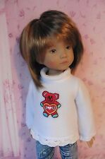 PIXIES HAND MADE: TEDDYBEAR TOP/JEGGINGS: fits 13 inch dolls like LITTLE DARLING