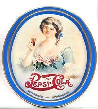 Pepsi-Cola Coke Blech Tablett USA Serviertablett Pepsi Girl mit Rosen 1970er