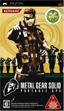 Used PSP Metal Gear Solid Portable Ops Import Japan、
