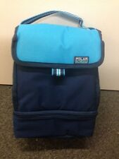 Insulated Polar Gear Cooler School Work Lunch Box Bag 2 parts in Various Colours