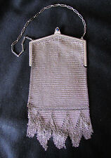 Gorgeous Antique Mesh Whiting and Davis Evening Bag Purse
