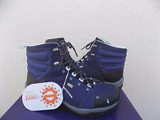 AHNU MONTARA MIDNIGHT BLUE WATER-PROOF LEATHER HIKING BOOTS, US 7.5/ 38.5 ~NEW