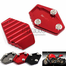 CNC Motorcycle Side Stand Plate Enlarge For Ducati  MULTISTRADA  2010-2015 Red