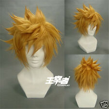 Kingdom Hearts Ventus Final Fantasy Cloud Strife Roxas Blonde Cosplay Wig + Cap