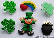 Pentola D'ORO O 'S. Patrizio Trifoglio Irlandese Leprecauno dress It Up Bottoni Craft