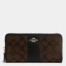 New Coach F54630 F54007 Accordion Zip Wallet In Signature PVC Crossgrain Leather