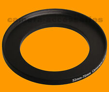 52mm to 72mm 52-72 Stepping Step Down Filter Ring Adapter 52-72mm 52mm-72mm