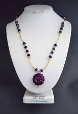Midnite Rose In Bloom Bead for Jewelry Making and Photo Instruction Kit