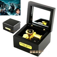 Wooden Black Square  Music Box  : Harry Potter Hedwig's Theme