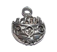 VINTAGE NOAH'S ARK W/ ANIMALS RELIGIOUS STERLING SILVER 925 CHARM PENDANT #2