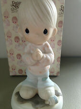 PRECIOUS MOMENT FIGURINE - HELP LORD, I'M IN A SPOT - 100269 - RETIRED 1989