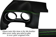 GREEN STITCH DASH SPEEDO SURROUND LEATHER SKIN COVER FITS PEUGEOT 4007