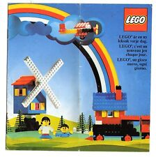 LEGO    CATALOGO  LEGO   1975   NOTICE / INSTRUCTIONS BOOKLET / BAUANLEITUNG