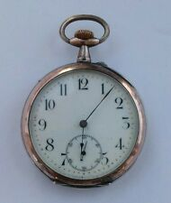 Antique French .800 Silver Pocket Watch. 10 Jewels. No Reserve!!