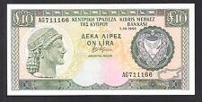 CYPRUS 1990 10 POUNDS BANKNOTE GEM UNC and PERFECT World Money Currency Note