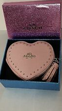 NWT COACH Edge Studs Heart Coin Case in Crossgrain Leather - Petal