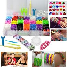 4200pcs TIE DYE Rainbow Color loom refill rubber bands With S Clips New