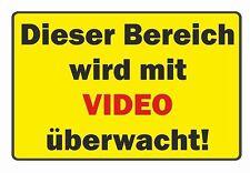 Schild: Dieser Bereich wird mit VIDEO überwacht! PVC-Schild