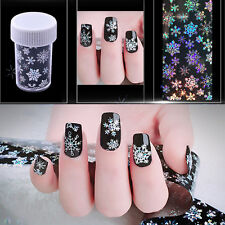 Snowflake Nail Art Transfer Wrap Foil Sticker Glitter Tip Decal Decoration DIY