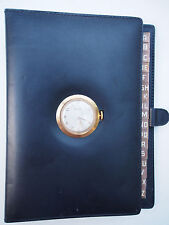Authentic GUCCI Watch w/ Address Book Black Leather~Wind Up~Works~VTG Rare EUC