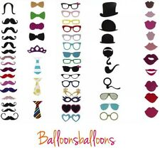 58pcs Photo Booth Selfie Props Moustache on A Stick Weddings Birthday Party