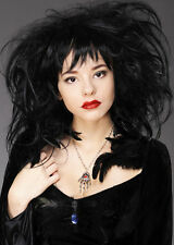 Deluxe Womens Gothic Vampire Black Back Combed Wig
