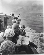 WWII B&W Photo Landing Craft Pin-Up US Army  WW2 / 1044