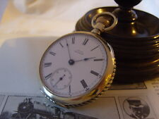 VICTORIAN WALTHAM 11J 'W.M ELLERY' POCKET WATCH. LARGE 18SZ FANCY CASE. C~1880.
