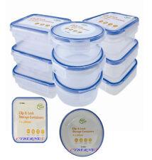 Nuevo 9 X Clip & Lock Tapas contenedores de almacenamiento de plástico Cajas alimentos frescos paquete de almuerzo