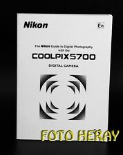 Nikon Coolpix 5700 original Guide, english edition 02289