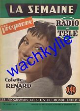 La semaine radio-télé n°47 du 20/11/1960 Colette Renard