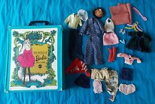 1968 THE WORLD OF BARBIE MATTEL DOLL CASE WITH ASSORTED CLOTHES AND ACCESSORIES