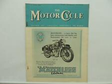 June 1949 THE MOTORCYCLE Magazine Matchless Clubman Royal Enfield L8321