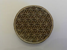 Flower of Life Round 6.3cm Indian Hand Carved Wooden Printing Block Stamp