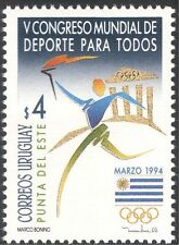 Uruguay 1994 Olympic Games/Olympics/Sport/Torch/Flag/Animation 1v (n22704)