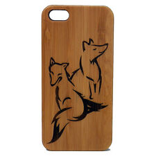 Fox Case for iPhone 7 Bamboo Wood Cover Foxy Friends Couple Woodland Woodsy Dog
