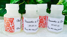 120 RED DAMASK MINI BUBBLE LABELS Personalized for WEDDING or Party FAVORS!