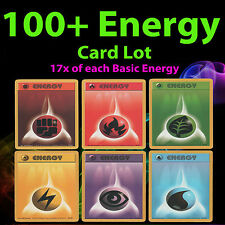 100+ Pokemon BASIC ENERGY Card Fighting Fire Grass Lightning Psychic Water Deck