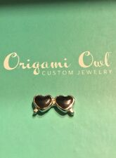 Authentic Origami Owl Silver Heart Shaped Sunglasses Charm - NEW & Retired