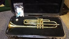 Nice Used Bach Tr-300 Bb Trumpet Raw Brass W/ Case & Mouthpeice Ready to play!