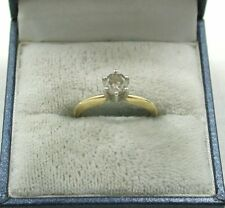 Vintage 14ct Gold And 0.50ct Diamond Solitaire Ring