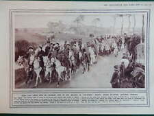 1914 SPAHIS FRENCH ALGERIAN CAVALRY; GERMAN SHIP YORCK WW1 (1 SHEET, BOTH SIDES